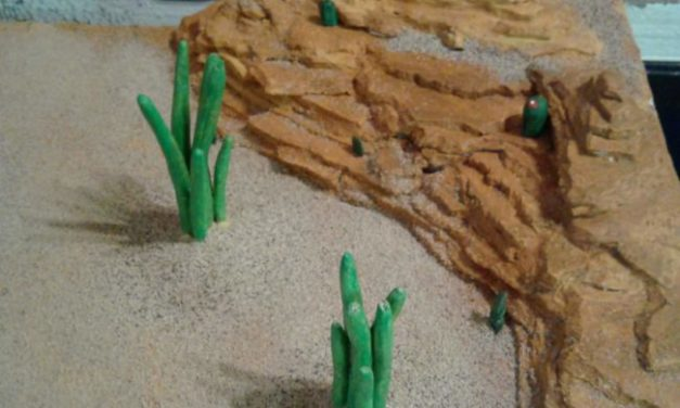 Desert Interlude: A small wargaming table