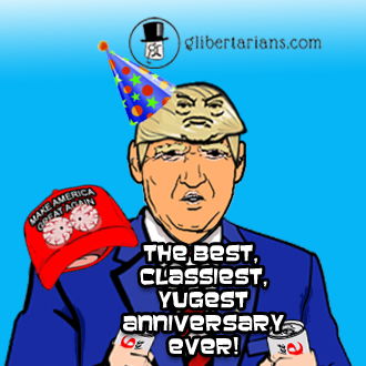 Hat and Hair Animated: Happy Anniversary!