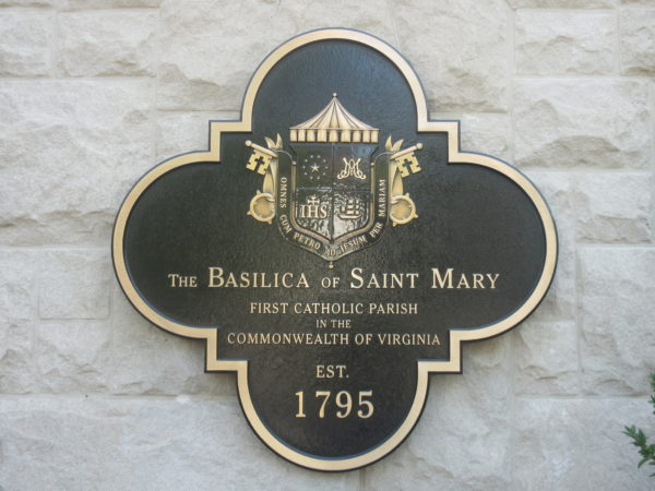 Plaque For the Basilica