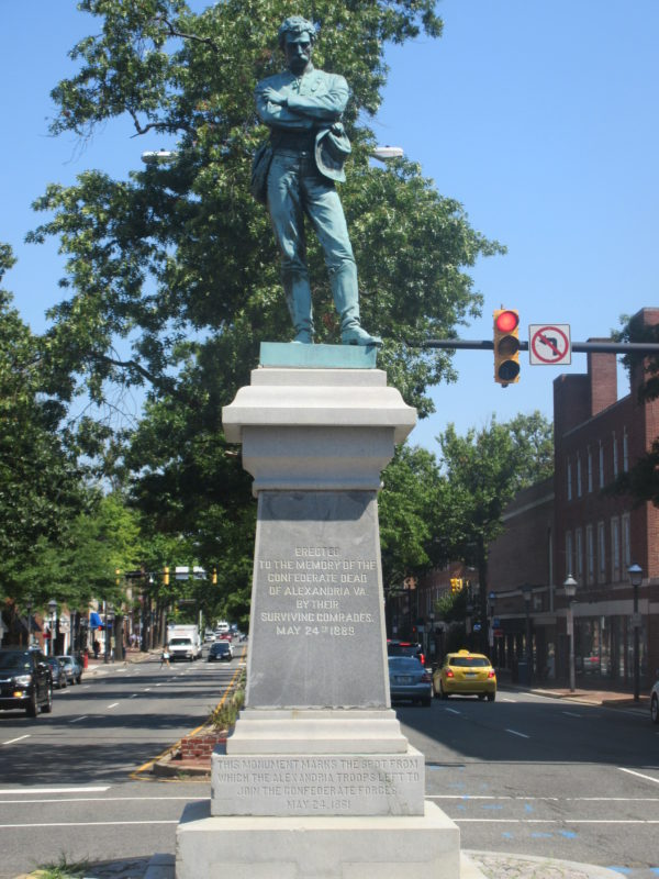 The Confederate Statue of Alexandria