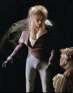 Jareth the Goblin King and his co-star. No, not the muppet.